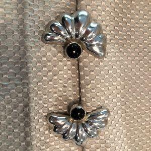 Jewelry - Fun Fan sterling silver clip on earrings